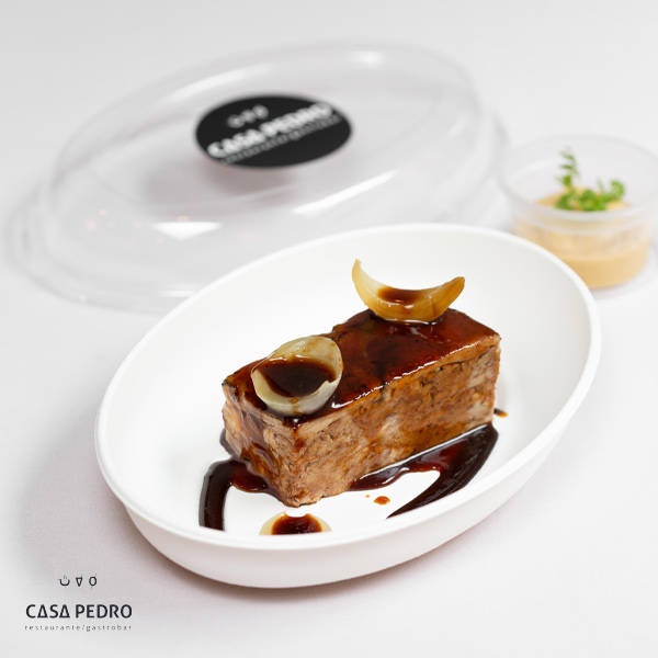 Lingote de Paletilla de Ternasco de Aragón a baja temperatura – Crema de Manzanas asadas