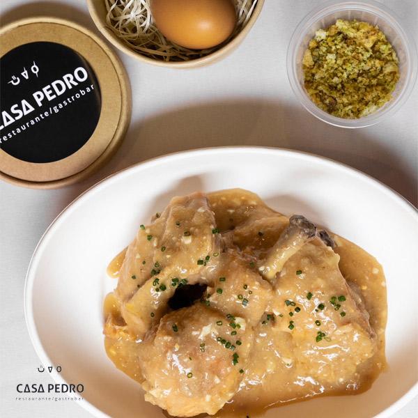 Pollo Campero en Guiso de Pepitoria – Huevo a baja Temperatura